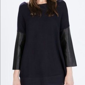 Zara Top with leather sleeves!